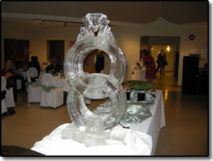 Ice Ring display at wedding
